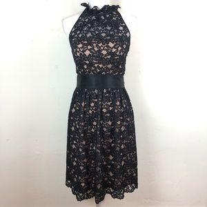 New Banana Republic Black Lace Dress Size 2P